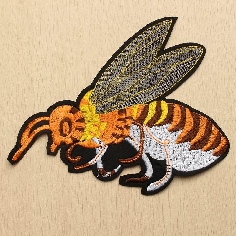 21x18 cm Große Biene Tuch Patches Dekoriert Stickerei Applique Nähen ...