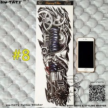 "Nu-TATY ""The Iron Arm"" Full Sleeve Arm Temporary Body Art, Flash Tattoo Stickers 48x17cm Waterproof Tatto Adult Sex Products"