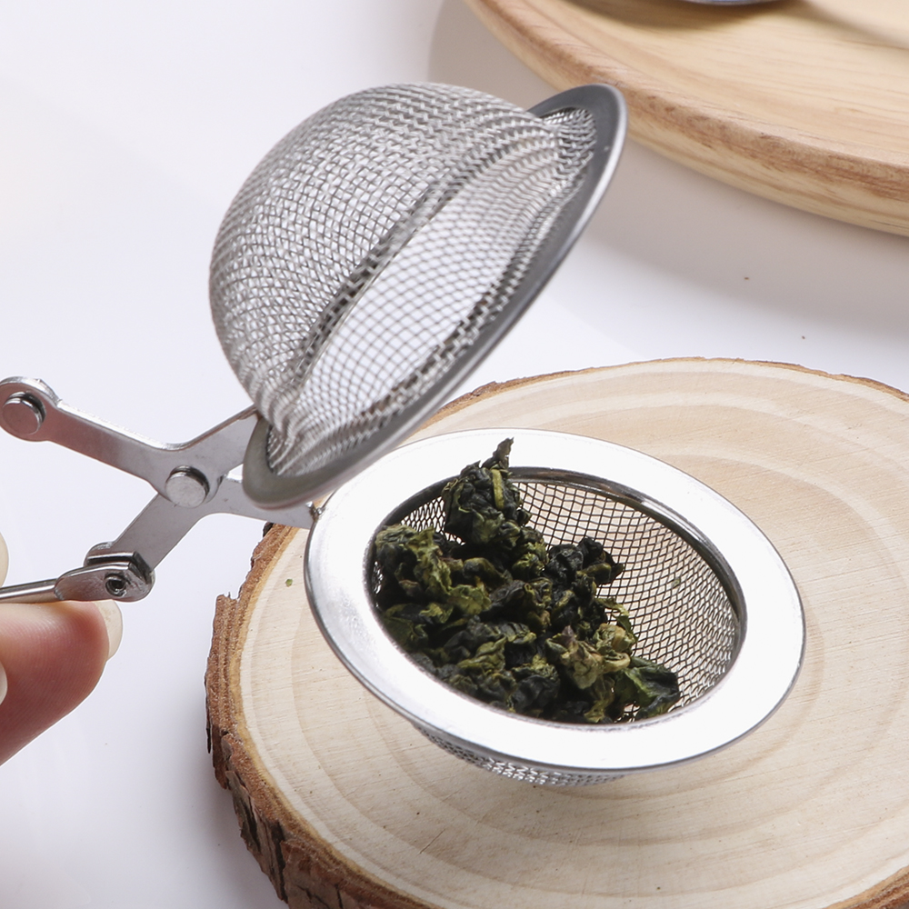HILIFE Stainless Steel Tea Infuser Sphere Mesh Tea Strainer Coffee Herb Spice Filter Diffuser Handle Tea Ball 2