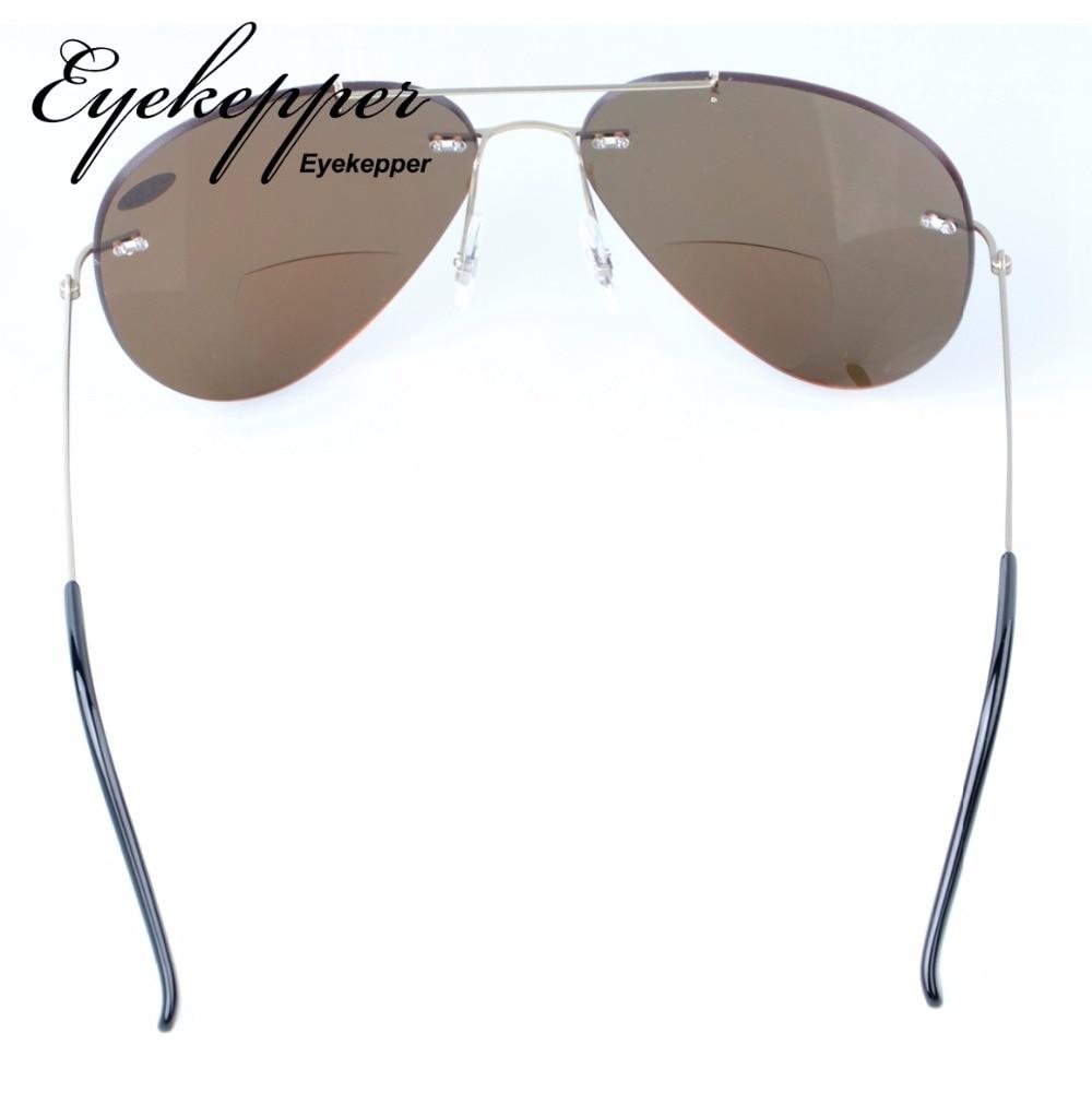 3531ec0554 S1508 Bifocal Eyekepper Sun Readers Titanium Rimless Polarized Bifocal  Sunglasses +1.5 +2.0 +2.5-in Reading Glasses from Apparel Accessories on ...