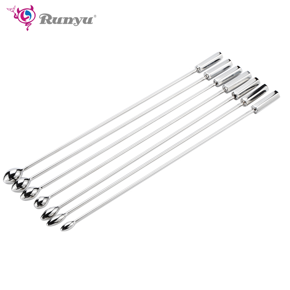 Private Good For Man 7 Size Urethral Tube Urethral Sound Male Chastity Catheter Penis Insert Stainless Steel Urethral Plug