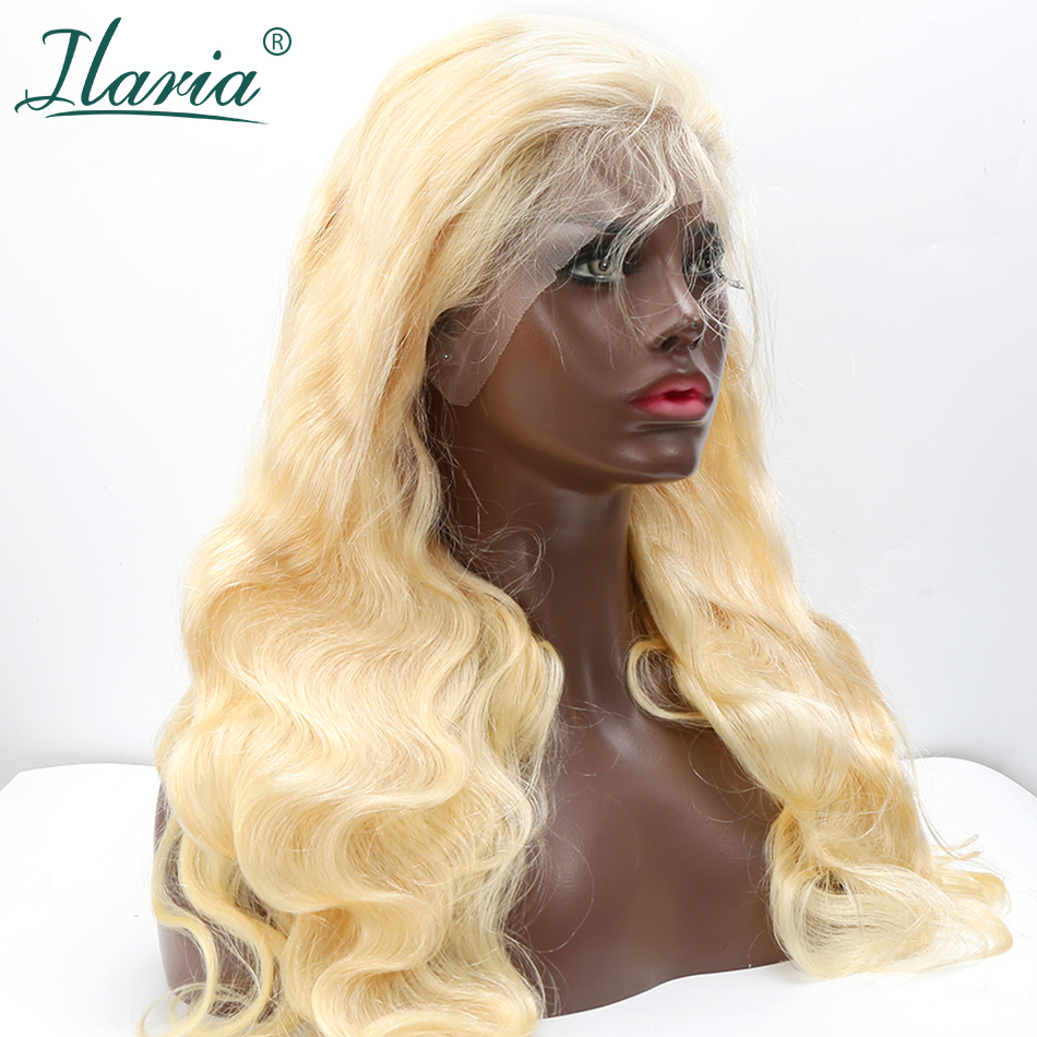 ILARIA 613 Blonde Lace Front Human Hair Wigs For Black Women With Baby Hair Body Wave Pre Plucked Natural Hairline Remy Hair Wig