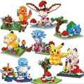8 modelos Pikachu Pokemon Diamond Building Blocks Figuras Juguetes Modelo Niño escenas Anime Pikachu Regalo de Navidad Bloques de Construcción