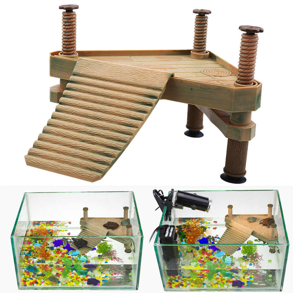 Reptile Turtle Frog Pier Floating Basking Platform Aquarium Turtle Platform Island Aquarium Ornaments Amphibian Leisure Table