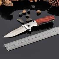 Folding Knife Blade Rosewood Handle Tactical Knife Pocket Camping Tool Fast Open Hunting Knife Survival Knives Self Defe
