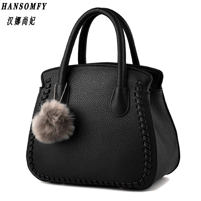 100% Genuine leather Women handbags 2017 New package female Korean fashion style female air bag Messenger shoulder handbag