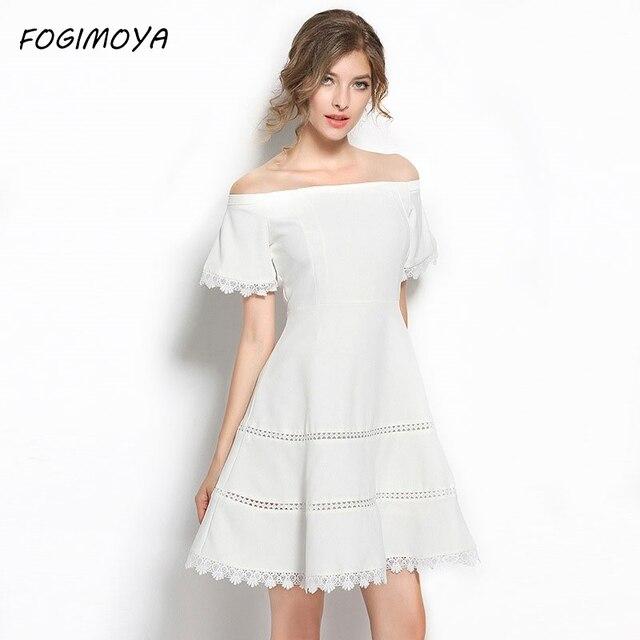 Fogimoya платье женские летние Мода 2017 Slash шеи выдалбливают Лоскутные платья женские короткий рукав облегающее платье мини милое платье