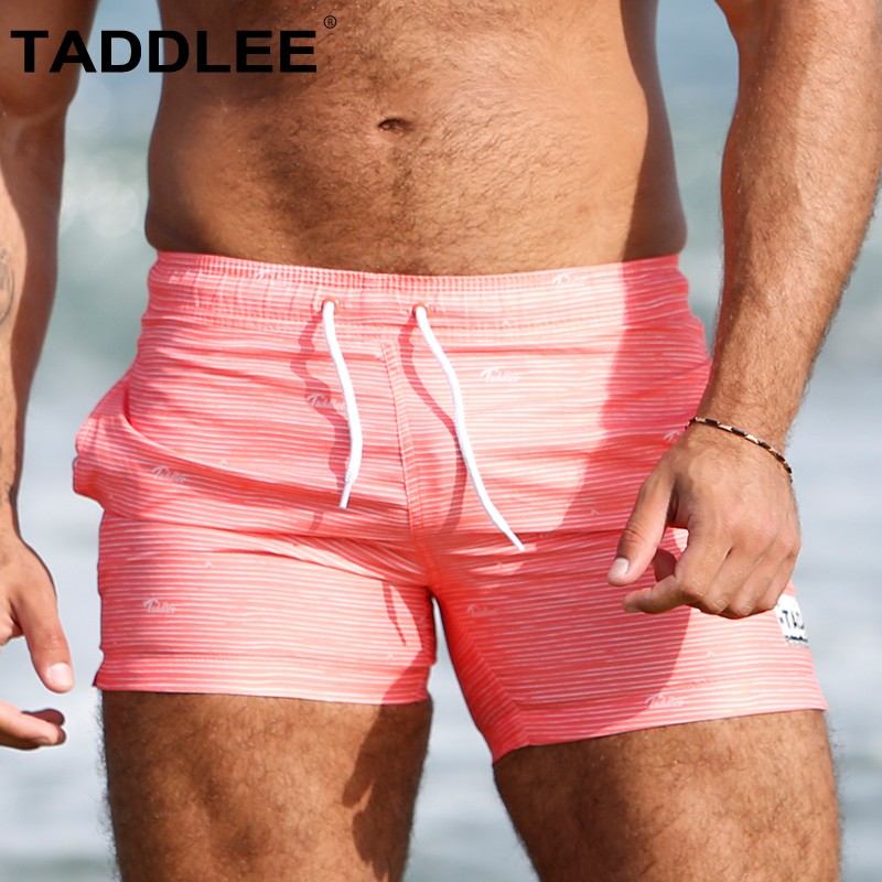 Taddlee Brand Men's Swimwear Beach Wear Boardshorts Man Swimsuits Swimming Boxer Trunks Surf   Board     Shorts   Quick Drying Bathing