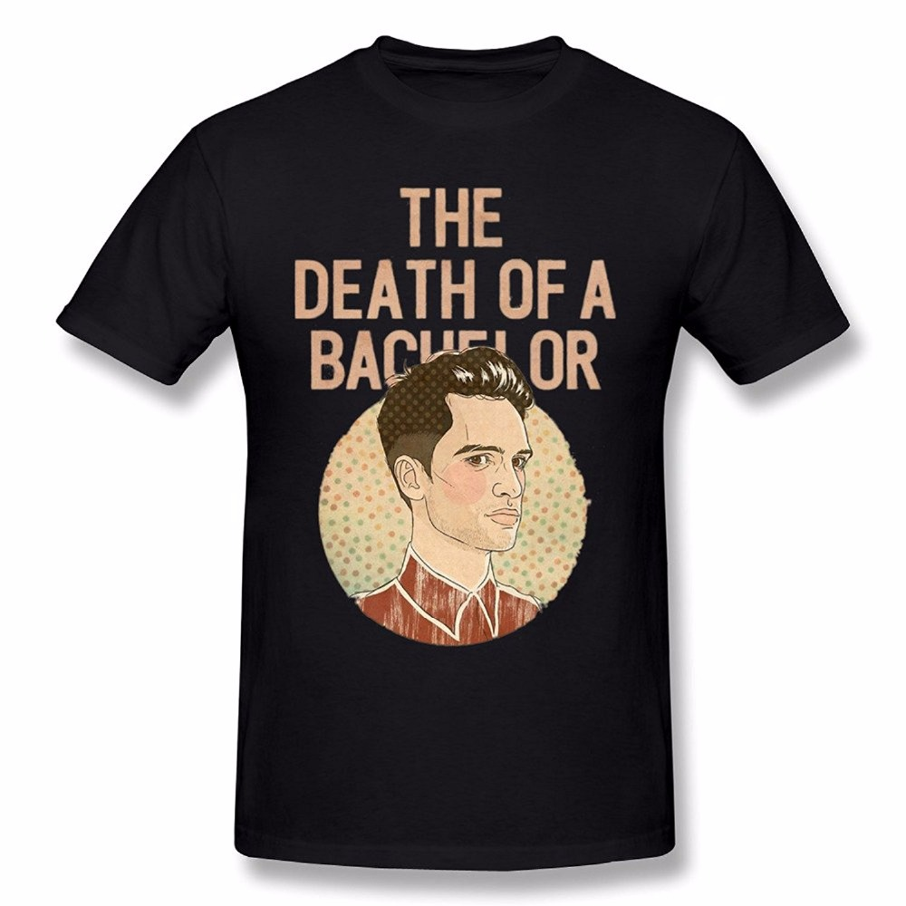 Fashion New Soft Thin Men T shirt Summer StylePromotion Death Of A Bachelor Panic! At The Disco Mens Short Sleeve High Quality