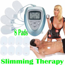 Full Body Health Care Electric Slim Tens Acupuncture Slimming Massager Digital Therapy Machine 8 Pads For Neck Foot Leg massage