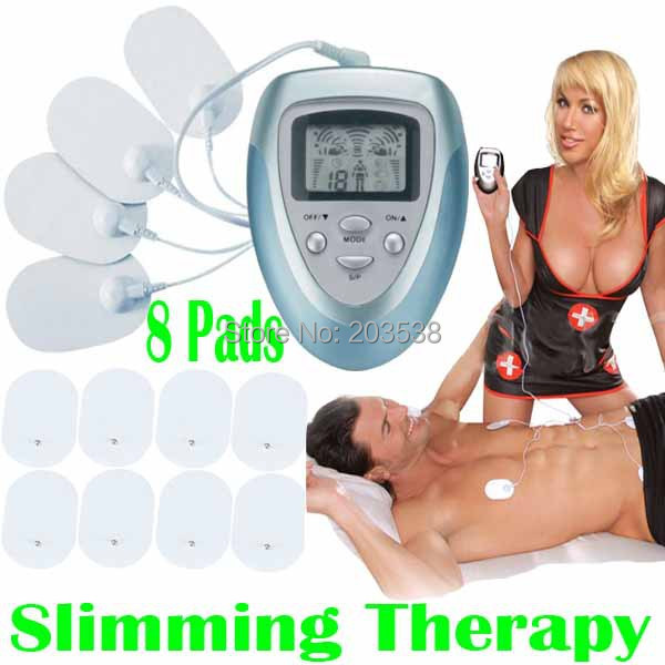 Full Body Health Care Electric Slim Tens Acupuncture Slimming Massager Digital Therapy Machine 8 Pads For Neck Foot Leg massage foot machine foot leg machine health care antistress muscle release therapy rollers heat foot massager machine device feet file