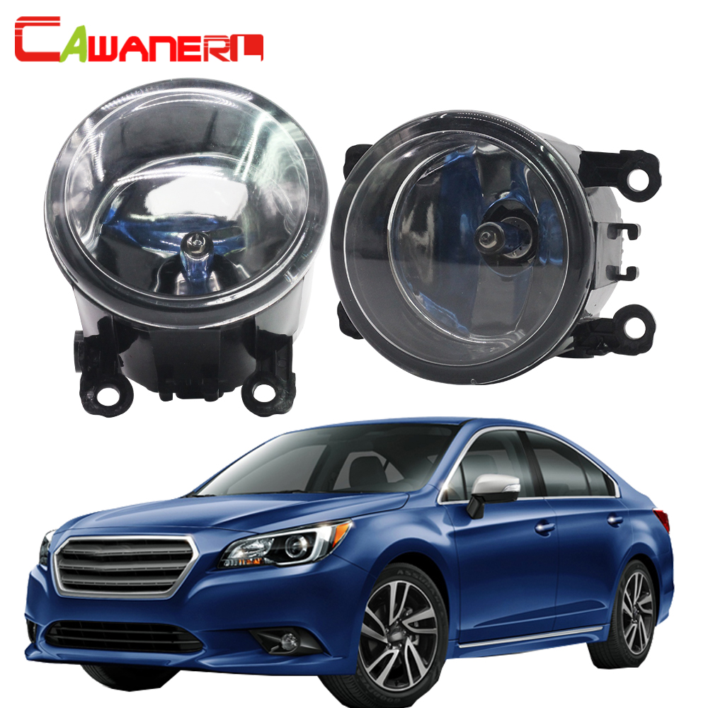 Cawanerl For Subaru Legacy 2010-2012 H11 100W Car Light Styling Halogen Fog Light Daytime Running Lamp DRL 12V 2 Pieces cawanerl for toyota highlander 2008 2012 car styling left right fog light led drl daytime running lamp white 12v 2 pieces