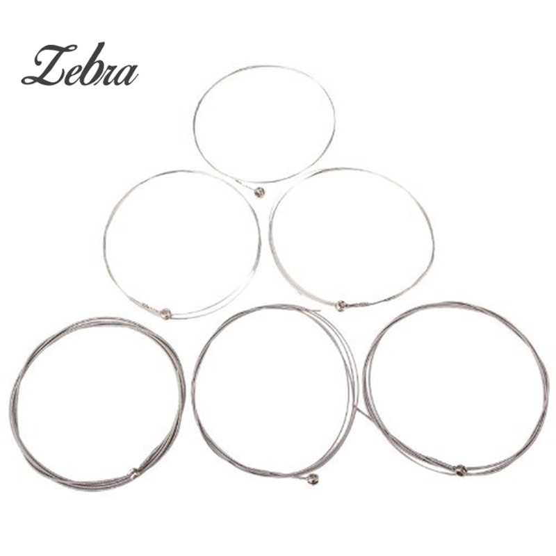 Zebra Set of 6 strings Electric Guitar String 150XL/.229mm Steel stringed instrument For Guitarra Bass Parts & Accessories rotosound rs66lc bass strings stainless steel