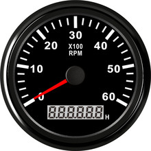 85mm Waterproof Marine Boat Tachometer Gauge 8000 RPM 6000 RPM Gauge With Hour Meter Marine Tachometer 9V~32V Red Backlight 1pc new type 0 8000rpm tachometer gauges modification 85mm lcd revolution meters 9 32v rev counters with hourmeter for auto boat
