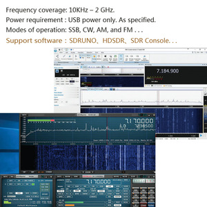 Image 5 - Wideband  Full Featured 12bit SDR Receiver SDRPLAY RSP1 RSP2 RTL SDR HackRF Upgrade AM FM HF SSB CW receiver Full band HAM Radio