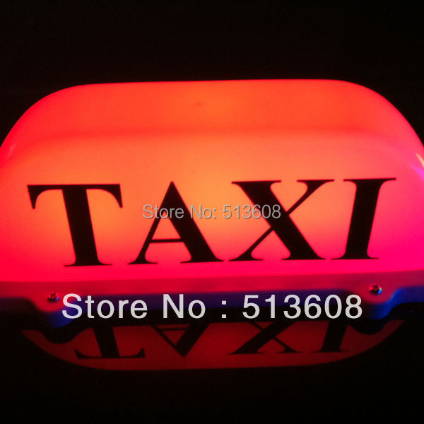 red light bulb s 12-24v LED Taxi Cab Top Sign Light Lamp Roof Magnetic Red