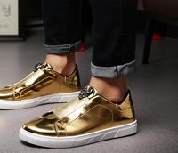 Mens sneakers Golden Hair Stylist Men Shoes Silver Reflective Non Mainstream Punk Shoes In Summer Man zapatos hombre zapatillas