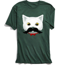 Men T-shirts Mustache Kittys Mouse-tache Tshirt Funny Cartoon Tees Crazy Tops T Shirts Cotton Short Sleeve Clothes Novelty