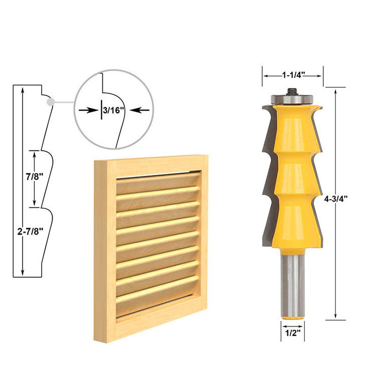 free shipping 1pc 1/2 Shank Large Reversible Crown Molding 2 Bit Router Bit Set Line knife Tenon Cutter for Woodworking Tools free shipping 1 set 32 pcs large gold steel watch crown kit for watch repair