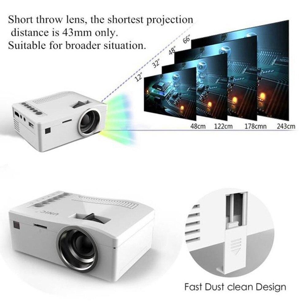 1080P HD Smart Home Mini Mulitmedia Projector 4