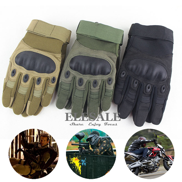 New Military Tactical Full Finger Gloves Safety Gloves For Outdoor Sports Hunting Cycling Airsoft CS Paintball Tactical Gloves