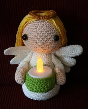 crochet toys  amigurumi candal girl angel  model number 0947