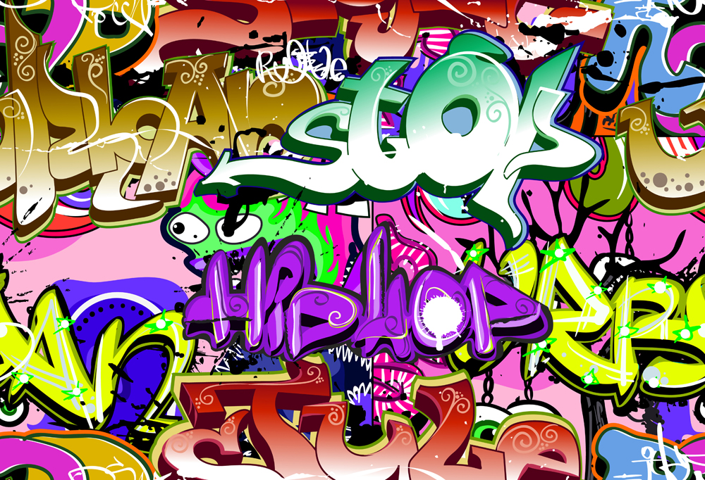 HUAYI 8x12ft Background Graffiti Wall Photography Backdrop Custom Portrait Studios Newborn Background XT-5798