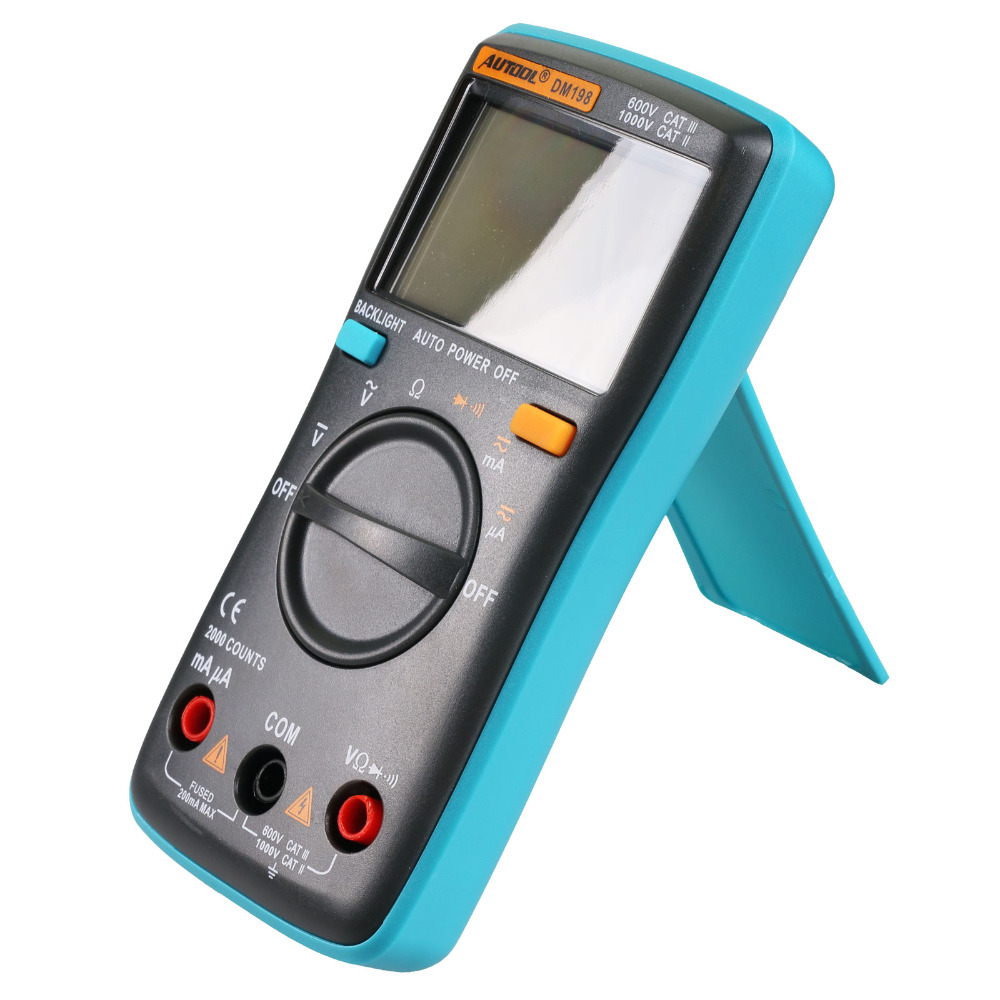 Autool DM198 Auto Ranging Pocket Mini Portable Digital AC//DC Multimeter Tester