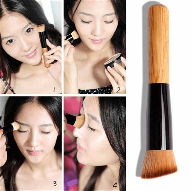 Professional Concealer Foundation Brushes Makeup Brush Nature Contour BB & CC Cream Base Powder Brushes Face Shadow Brush Tools 2
