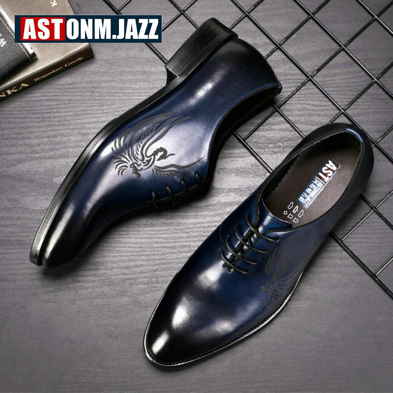 Men's Leather Casual Shoe Business Men Genuine Leather Shoes Men Lace Up Classic Oxford Shoes For Men Black Formal Shoe Big Size eu 53 men genuine leather shoes oxford dress shoes for men business shoes men lace up casual shoes big size b172