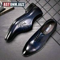 Men's Leather Casual Shoe Business Men Genuine Leather Shoes Men Lace Up Classic Oxford Shoes For Men Black Formal Shoe Big Size