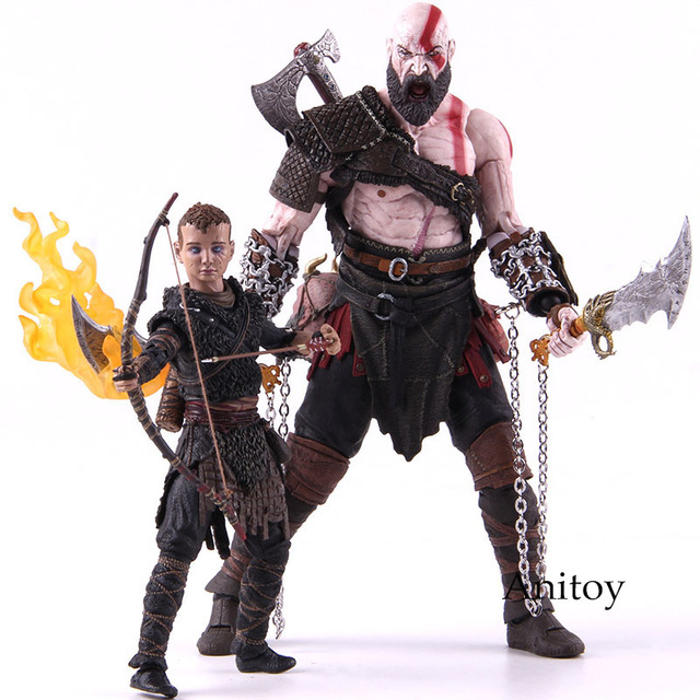NECA God of War Kratos 4 & Atreu Ultimate Deluxe Edition Collectible Toy Modelo PVC Figura de Ação Kratos Atreu 2 -Pack