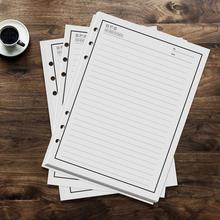 50 sheets 100 Pages Reusable Notebook Inner Paper Refill compatible with PU A5 Smart Erasable Notebook Pocketbook