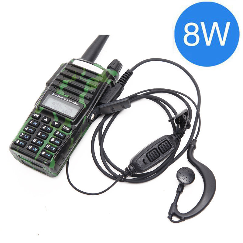 Baofeng UV-82 Plus 8 Вт 10 км Большая дальность мощная портативная рация CB vhf/uhf двухстороннее радио Amador 8 Вт UV82 Plus - Цвет: camo
