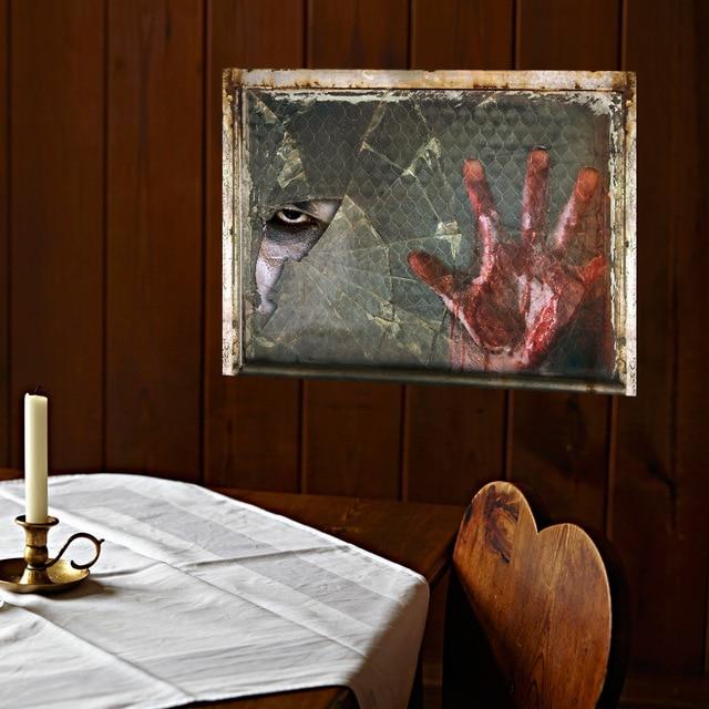 Halloween Haunted House Horror Sticker Bedroom Living Room Home Decor Vinyl  Kids Room Family DIY Ghost Hand Decoration Stickers