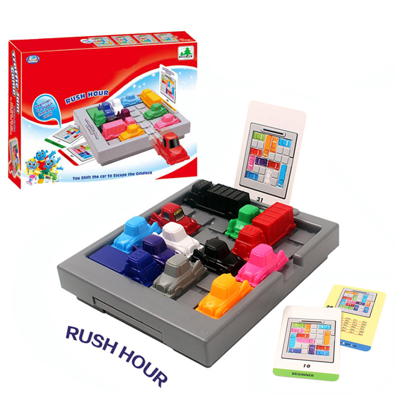 Finger Rock Rush Hour IQ Car 3D Puzzle Game Maze Brain Teaser Toy Educational Tangram Kid Jigsaw Puzzle Toys For Children Age 3+