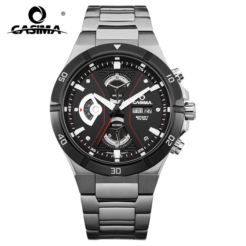 2017 Top-selling Luxury Brand watches men fashion casual multi-function sport mens quartz wrist watch waterproof 100mCASIMA#8204 цена и фото