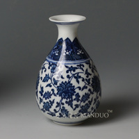 Blue and white ceramic decoration vase shelf decoration classical blue and white porcelain vase