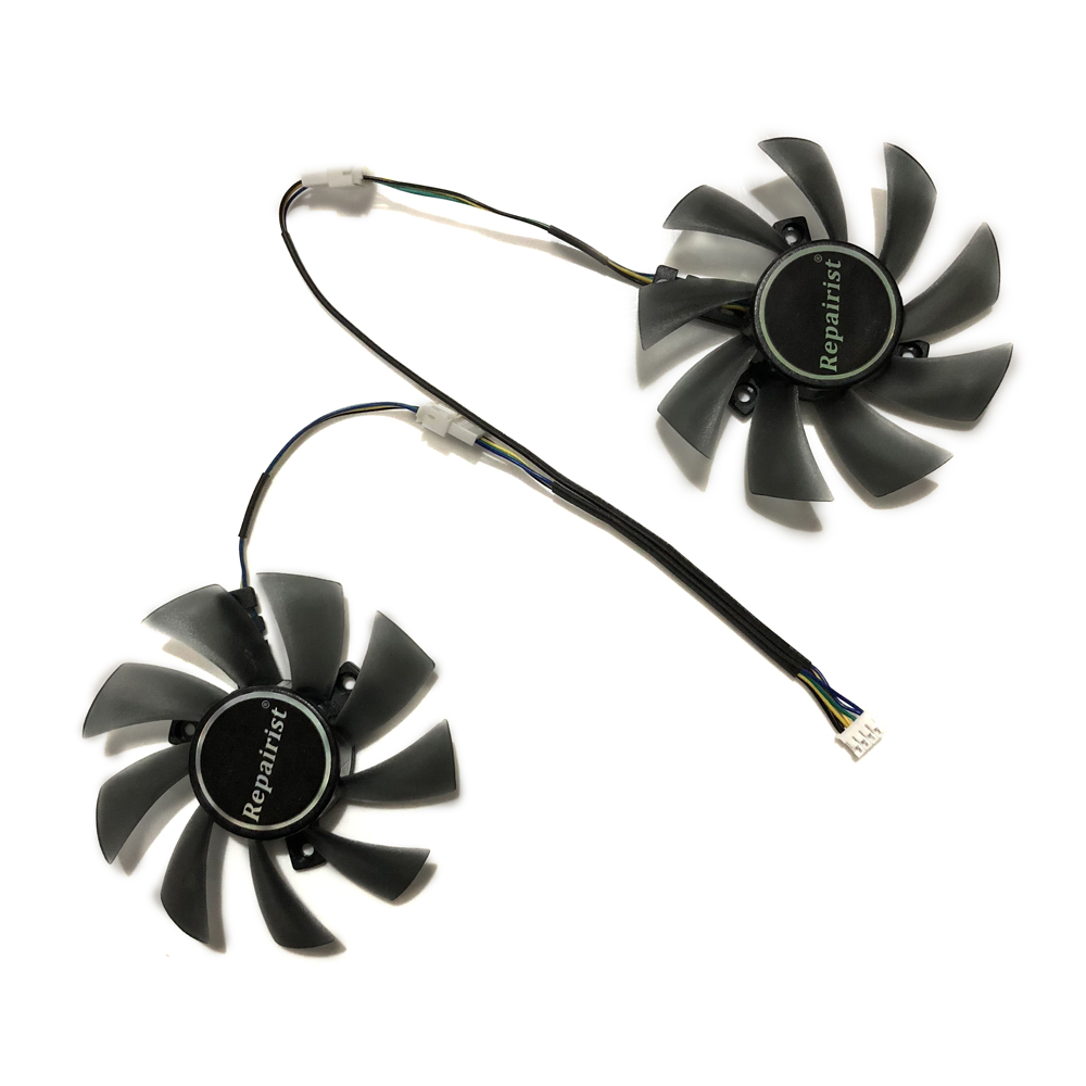 2pcs/lot GPU RX580 RX480 ARMOR VGA cooler Video Card cooling fan For Radeon RX 480 MSI RX 580 ARMOR Graphics Card Cooling system 2pcs lot computer radiator cooler fans rx470 video card cooling fan for msi rx570 rx 470 gaming 8g gpu graphics card cooling