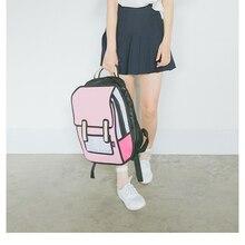 Новый женский рюкзак Квадратичный Элемент мультфильм мужской рюкзак школьный портфель 3D Стиль холст 2D Рисунок Женский Рюкзак Книга сумка Mochila