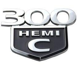 1PC 300C HEMI Emblema HEMI Emblema Tronco Decklid para Chrysler 300 C 2005 2006 2007 2008 2009 2010- 2015 (Cromado Preto)