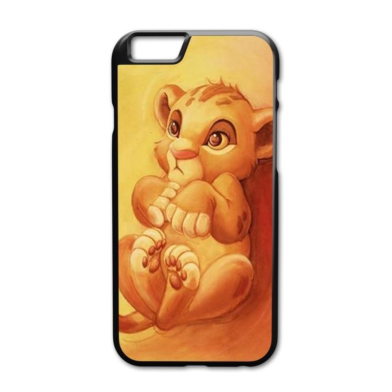 Cute Little Lion King Children Cover Case for iPhone 4 4S 5 5S 5C 6 6S 7 8 Plus Samsung Galaxy S3 S4 S5 Mini S6 S7 S8 Edge Plus