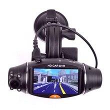 "Car DVR Dual lens GPS vehicle Car DVR Camera Video Recorder 2.7"" LCD Dash Cam G-sensor"