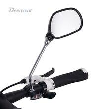 Deemount 1 пара Велосипедный Спорт заднего вида Стекло зеркало велосипед Велоспорт широкий диапазон назад прицел Отражатели регулируемый угол левый и правый Зеркала