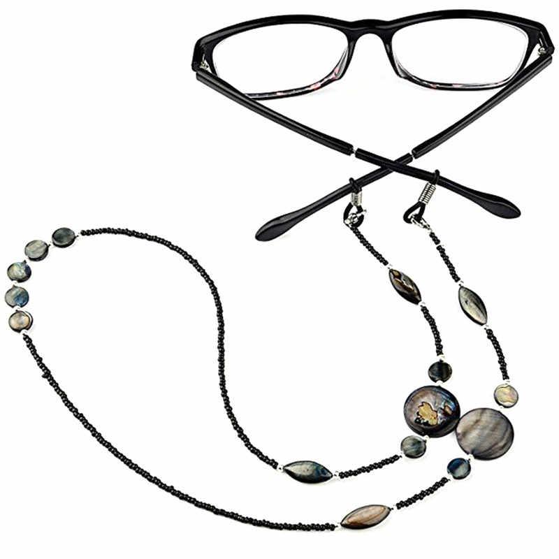 2019 최신 인기 독서 안경 체인 세련된 쉘 비즈 여성 끈 홀더 스트랩 선글라스 리테이너