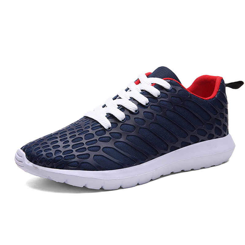 ФОТО 2017 Summer New Men and Women Breathable Sports Running Shoes Fabric Jogging Shoes Lovers Training Walking Sneakers Feminino Q55