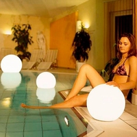 LED Colorful Globe Decorative Light Remote Control Large Ball Party Light Courtyard Bar Pool Outdoor IP65 Decoration Lamp