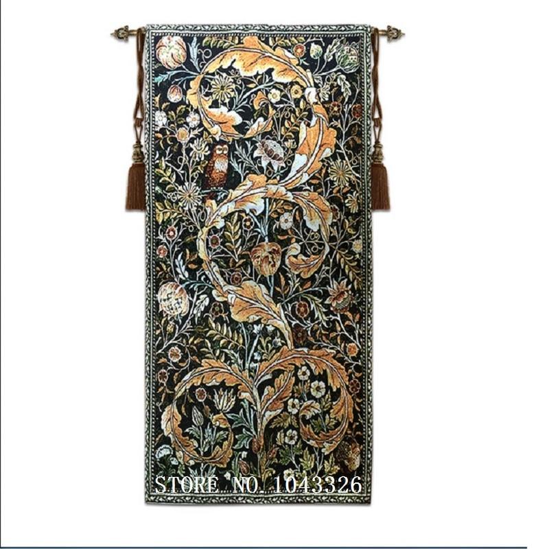 58*114 cm Soggiorno camera Da Letto Carta Da Parati Pittura Decorativa William Morris Serie Della Parete Del Gufo Tappeto Appeso Artistico Arazzo ST-16