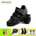 Tiebao обувь для велоспорта MTB SPD педали обувь для горного велосипеда дышащие самозакрывающиеся уличные профессиональные кроссовки Мужская ве...