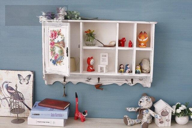 1 Stuck Kreative Retro Wand Hangende Dekoration Schubladenschranke Holz Wohnzimmer Schlafzimmer Schrank Schliessfacher Mit Haken Aufbewahrungsbox Enm